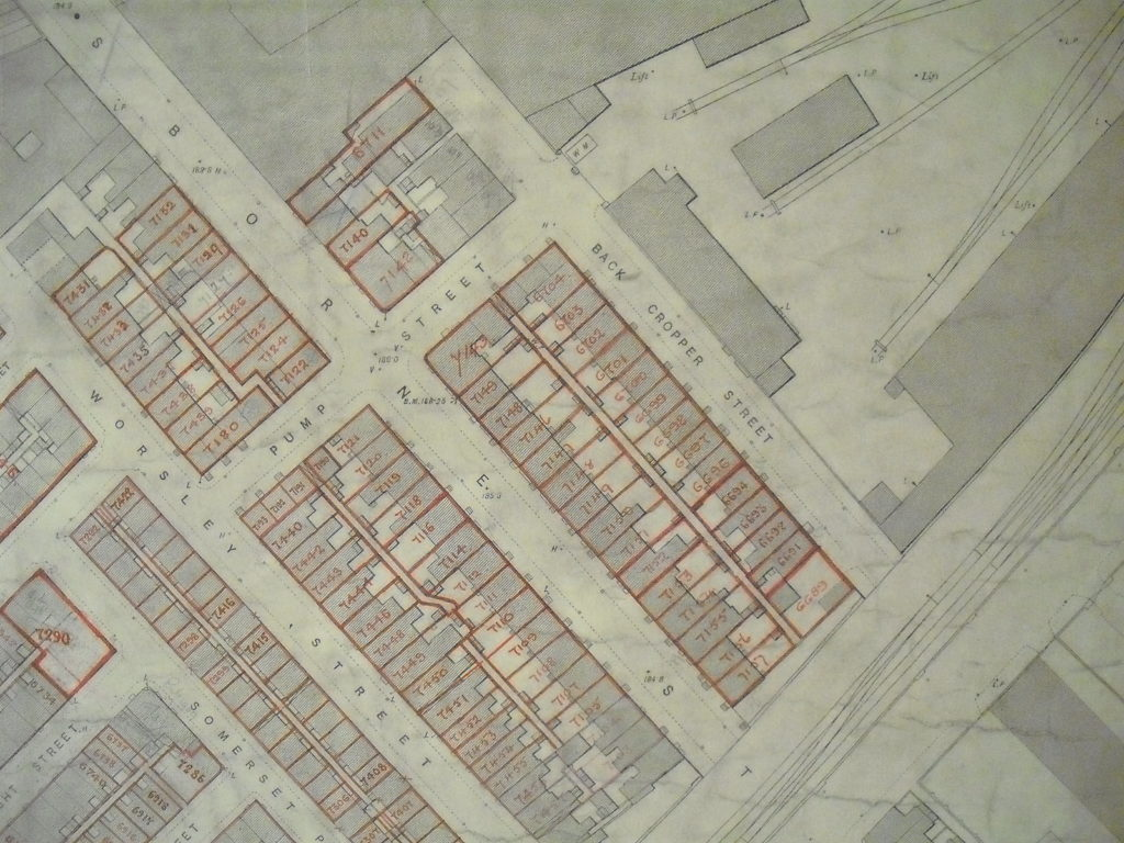 1911 survey map Cropper Street