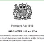 general enclosure act 1845