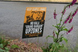 Keep Seattle Liveable placard, June 2018
