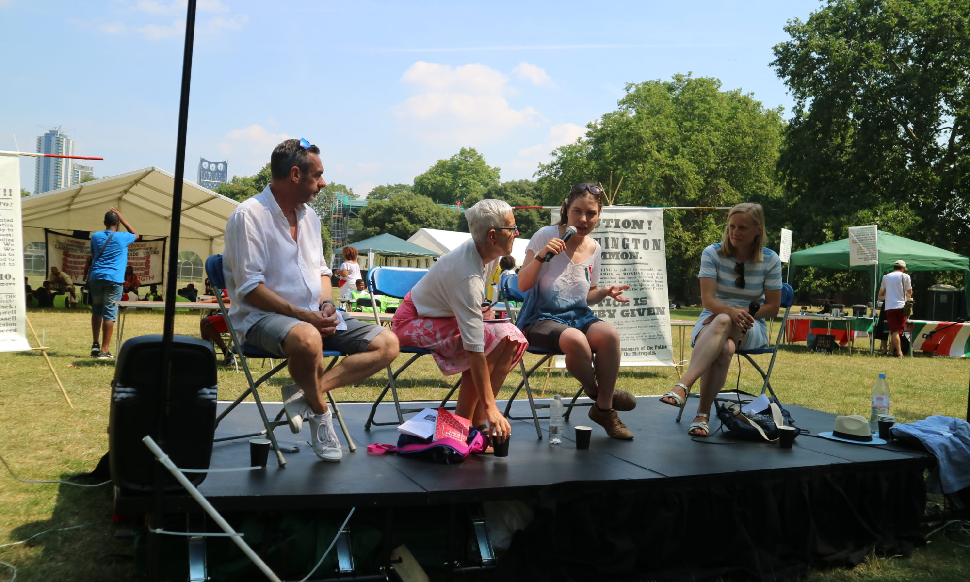 'people's question time', Kennington park, 7 July 2018