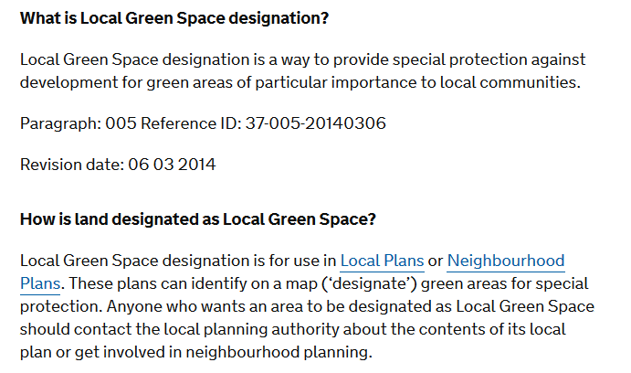 green space definition 2014