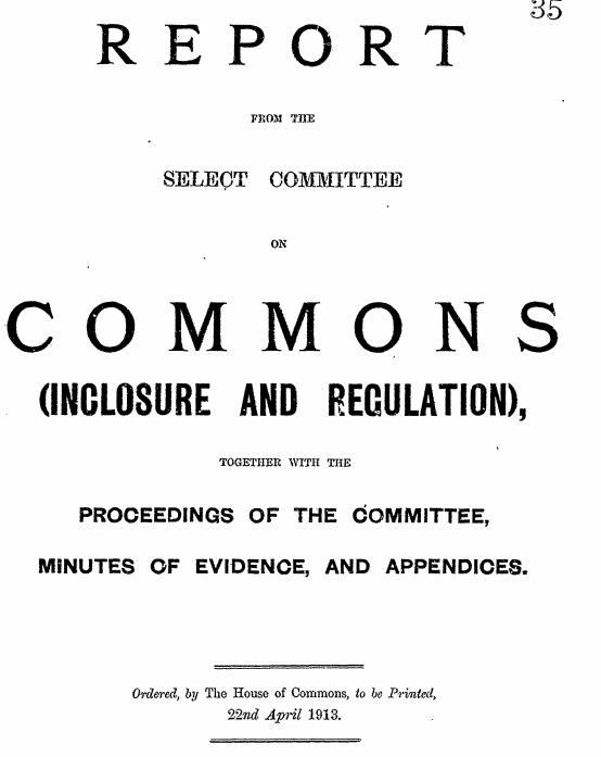 select committee report 1913