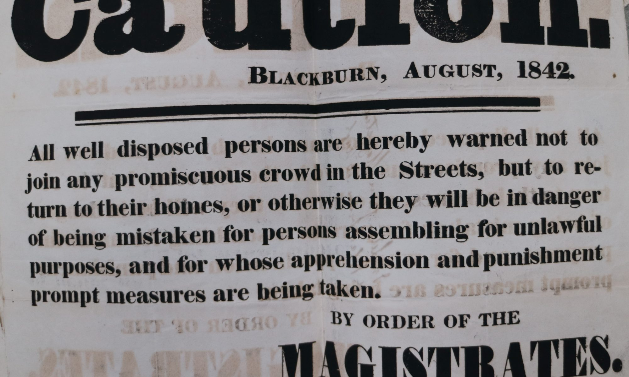 magistrates of blackburn ban on meetings 1842