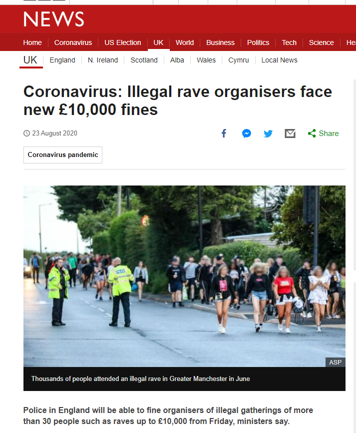 rave legislation
