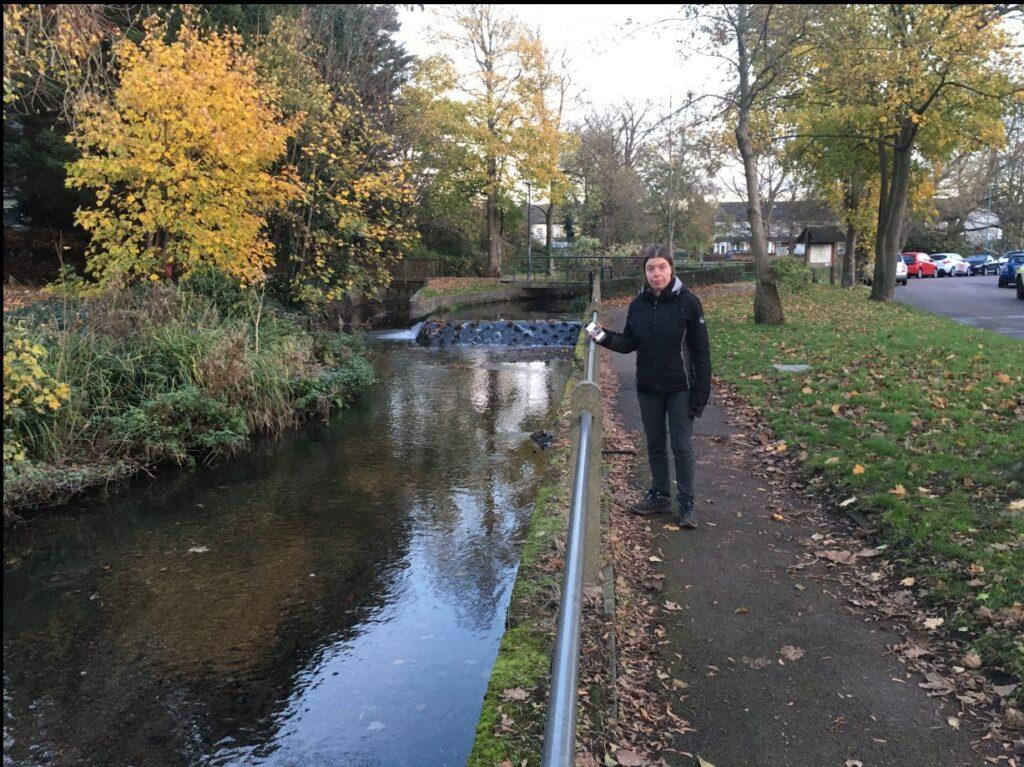 me at Beddington Weir