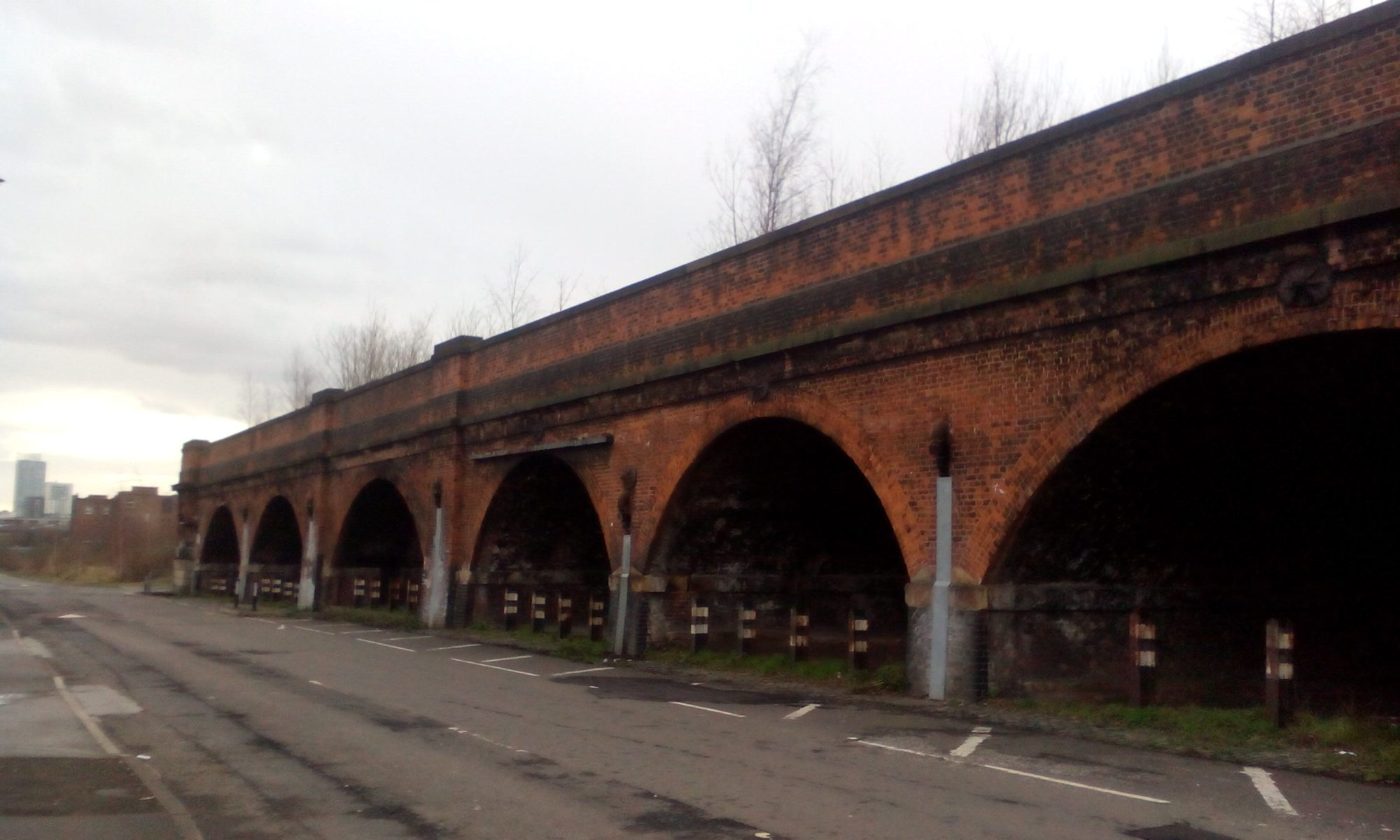 old railway viaduct New Allen Street