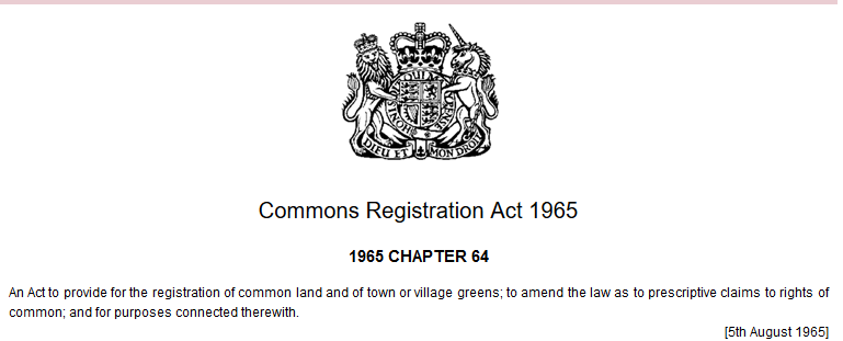 commons registration act