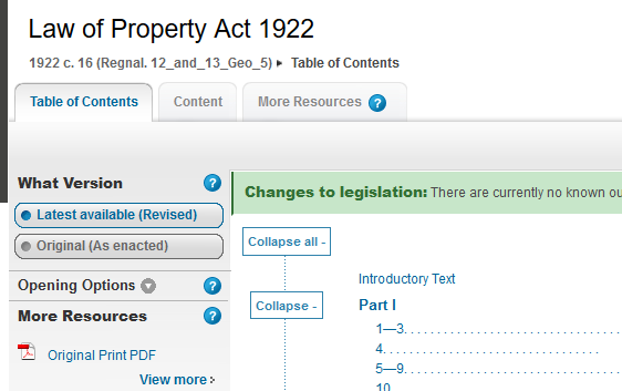 1922 law of property act