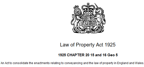 1925 Law of Property act
