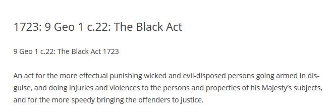 1721 black act