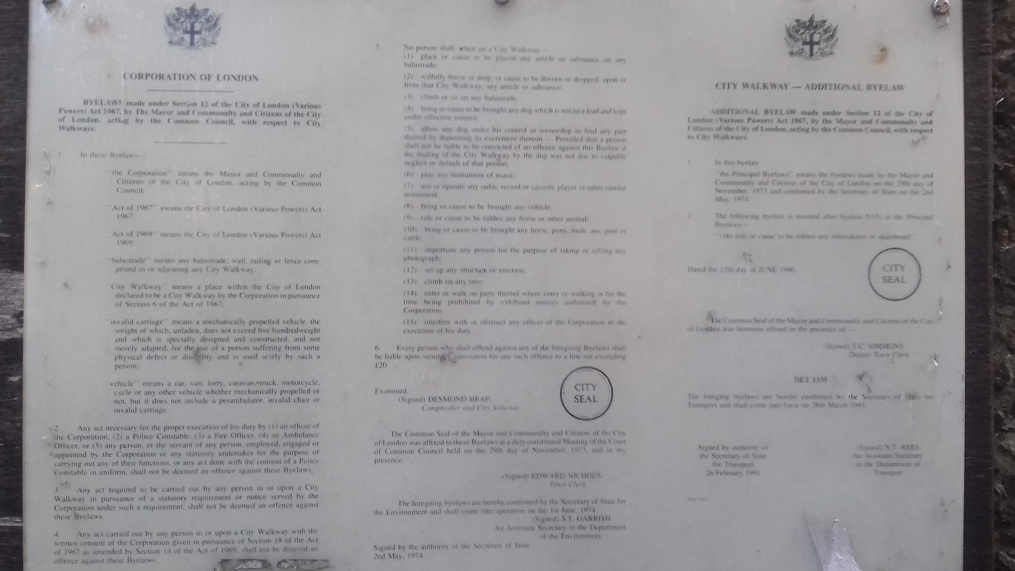 barbican rules