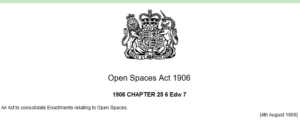 1906 open spaces act