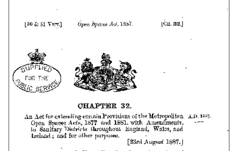 open spaces act 1887