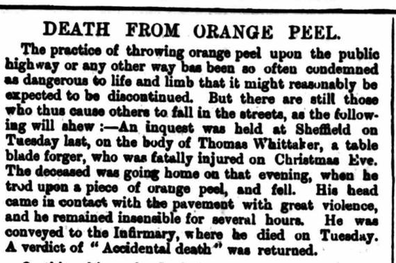 death from orange peel