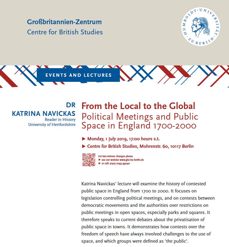 lecture Humboldt University 1 July 5pm