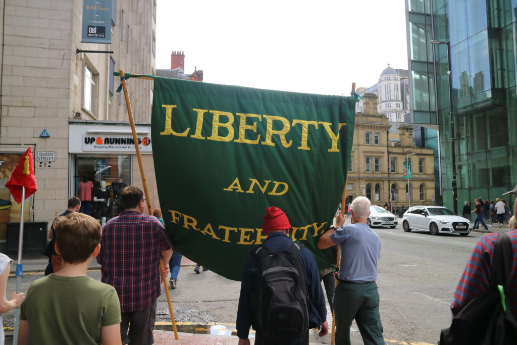 liberty and fraternity banner, Deansgate