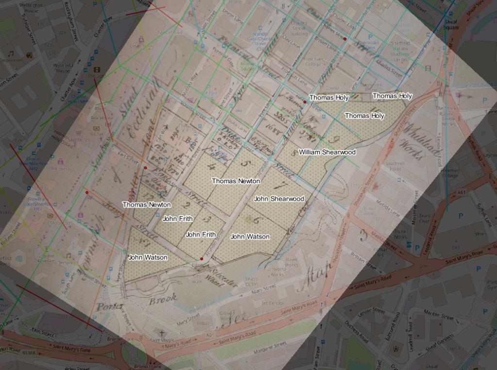 area around The Moor Sheffield