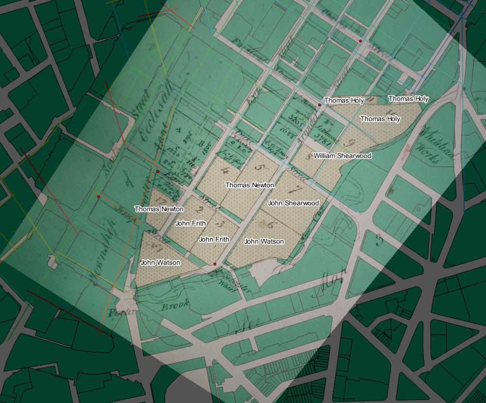 Fairbank's map of The Moor