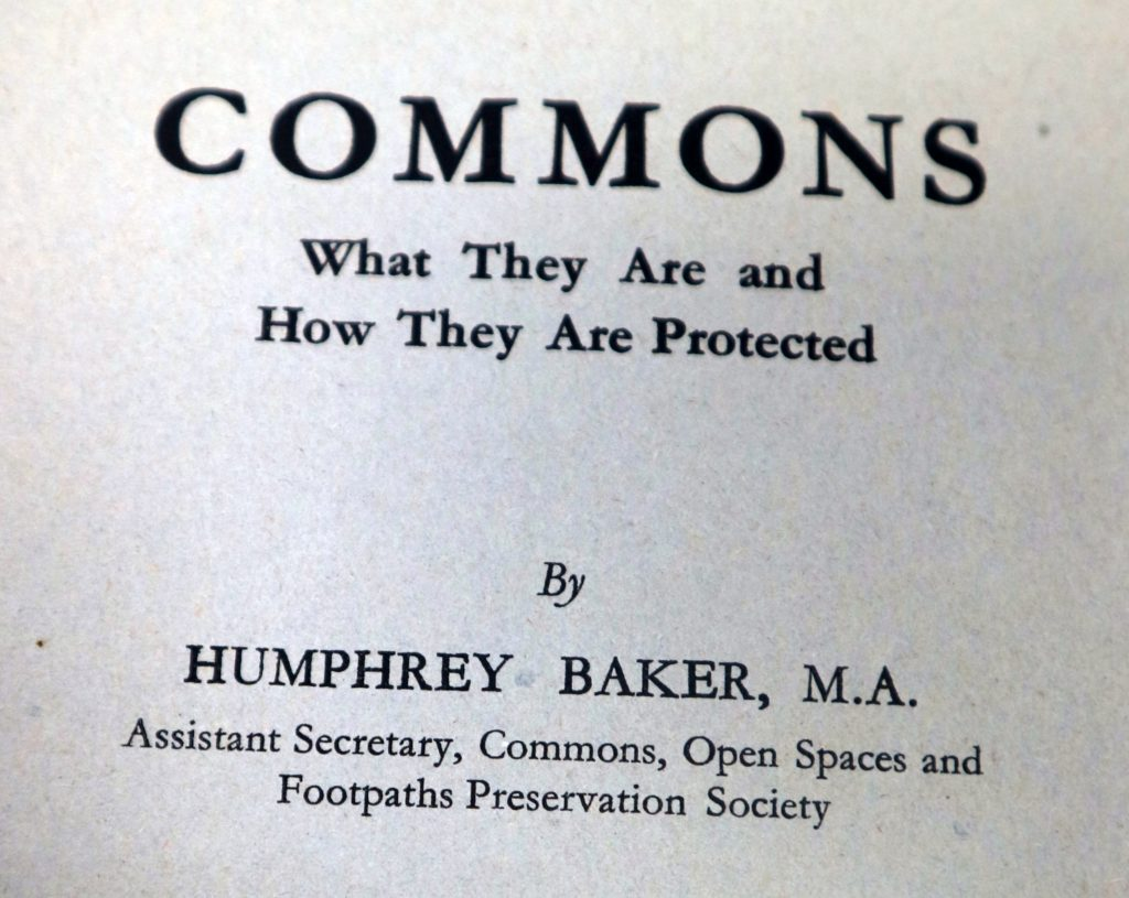commons what they are by Humphrey Baker
