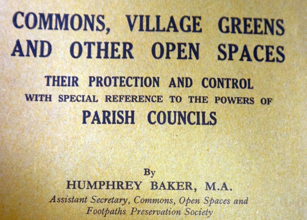 commons village greens and other open spaces by Humphrey Baker