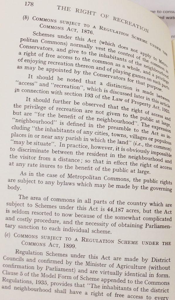 right of recreation baker 1937
