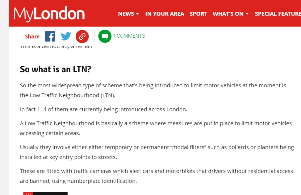low traffic neighbourhoods