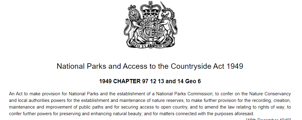 1949 national parks act