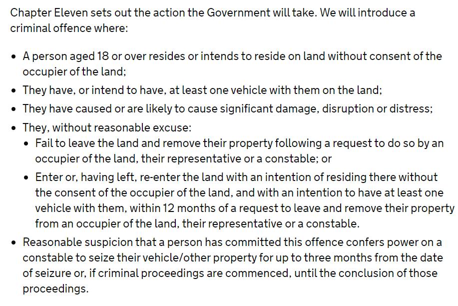 measures on encampments