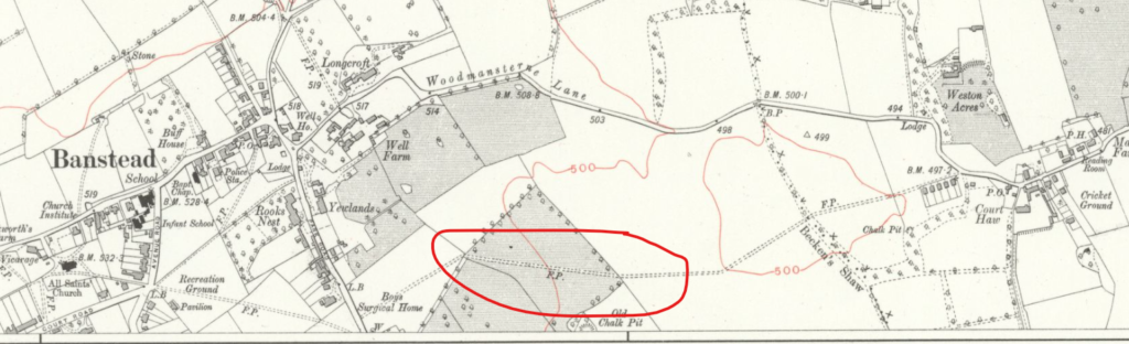 map of Banstead, 1914